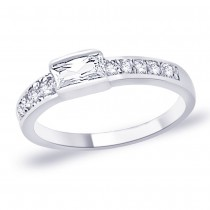 White CZ 925 Sterling Silver Finger Ring For Women JOCFR1291R6