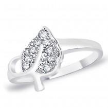 White CZ 925 Sterling Silver Finger Ring For Women JOCFR1310R6
