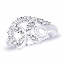 White CZ 925 Sterling Silver Finger Ring For Women JOCFR1313R6