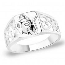 925 Silver Lord Shree Ganeshji Finger Ring JOCFR1317A9