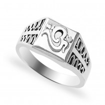Om 925 Sterling Silver Finger Ring For Men JOCFR1403A9