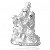 999 Silver Shree Radha Krishna Idol JOCGI1249F