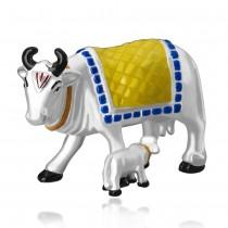 999 silver Kamdhenu cow with calf idol JOCGI1265EN