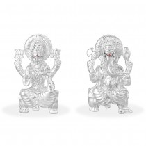 999 Silver Combo Of Lord Laksmi And Ganeshji Idol JOCGI1372HP+GI1371HP
