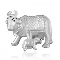 999 silver Kamdhenu cow with calf Foaming idol JOCGI1410F