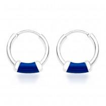 Sterling-Silver Hoop Earings For Women - Silver JOCH42014ZF