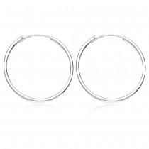 silver Hoop Earrings for Women JOCH42030M
