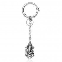 925 Sterling Silver Lord Shree Ganeshji Key Chain For Unisex JOCKC1158A