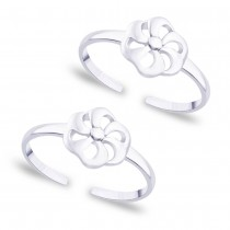 925 Sterling Silver Floral Toe Ring for Women JOCLR0629S