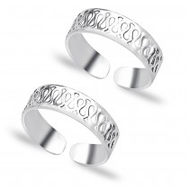 925 Sterling Silver Toe Ring For Women JOCLR0639S