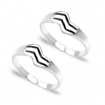 Engraved Pattern 925 Sterling Silver Toe Ring For Women JOCLR0641A