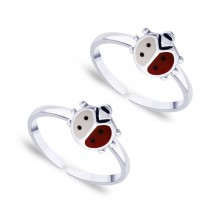 925 Sterling silver beetle with Enamel Toe Ring for Women JOCLR0733S