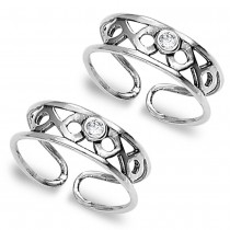925 Sterling Silver Toe Ring For Women JOCLR0790A