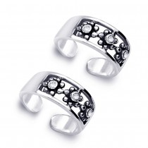 925 Sterling Silver Toe Ring For Women Silver JOCLR0832A