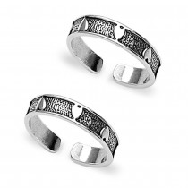 925 Sterling Silver Toe Ring For Women Silver JOCLR0836A