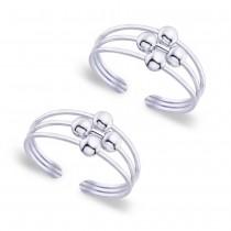 925 Sterling silver Ball toe ring for Women JOCLR0852S