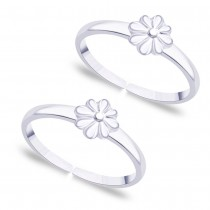 925 Sterling Silver Simple Floral toe ring for women JOCLR0855S