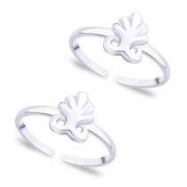 925 Sterling silver Leaf pattern toe ring for Women JOCLR0867S