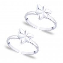 925 Sterling Silver Floral design toe ring for Women JOCLR0868S