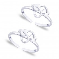 925 Sterling silver Leaf pattern toe ring for Women JOCLR0869S