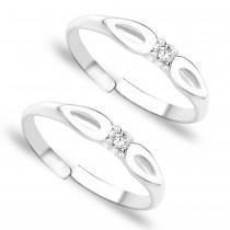 CZ 925 Sterling Silver Toe Ring For Women JOCLR0872S