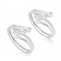 925 Sterling Silver Toe Ring For Women Silver JOCLR0894S