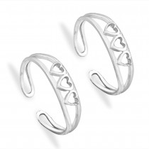 925 Sterling Silver Heart Toe Ring for Women JOCLR1053S