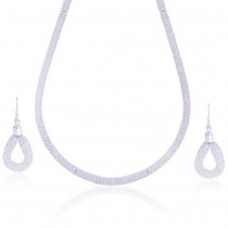 Stunning Mesh Chain 925 Sterling Silver Necklace Set JOCNS1217S