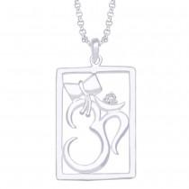 OM & Damroo 925 Sterling Silver Pendant For Unisex JOCPD1159S