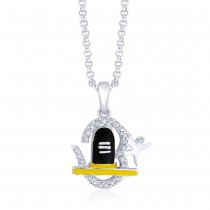 Sterling-Silver Pendant For Unisex Silver JOCPD1229S