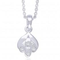 Sterling-Silver Pendant For Women Silver JOCPD1254R
