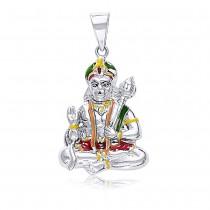 925 Sterling Silver Hanuman Pendant For Unisex Silver JOCPD1545S