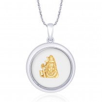 925 Sterling Silver in Gold Plated Lord Shiva Pendant For Unisex JOCPD1631G