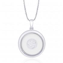 Antique Finish Om 925 Sterling Silver Pendant For Unisex JOCPD1633A
