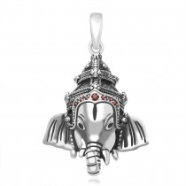 925 Sterling Silver Lord Ganesh Pendant For Unisex  JOCPD1632A