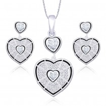 925 Sterling Silver Designer Pendant set for Women JOCPE1236S