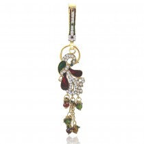 Xcite Designer Studded Peacock Keyring with multicolour Enamel For Women JOCXKC101