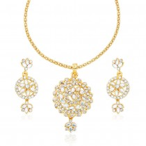 Xcite Elegant Look Floral Design White Color Stone Kundan Necklace set for Women's & Girls JOCXNS249