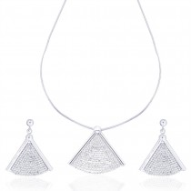 Diamond Cut Chain Necklace Set for Women JOCNS0903S