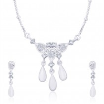 925 Sterling Silver Pendant Set For Women Silver