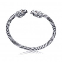 925 Sterling Silver Cuff & Kadaa For Unisex Silver