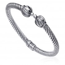 925 Sterling Silver Bangle For Unisex Silver