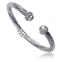 Twisted Flexi 925 Sterling Silver Bangle For Unisex