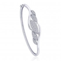 925 Sterling silver white cz Bangles