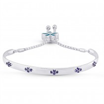 925 Sterling Silver Chain Linked Bangle For Women