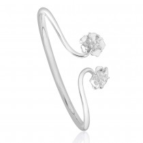 990 Sterling Silver Top Openable Floral Kada