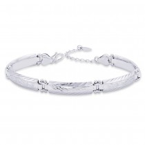 Link 925 Sterling Silver Beacelet For Men