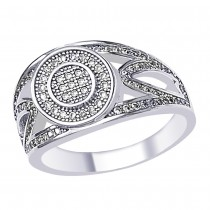 Round Cut White CZ Charming 925 Sterling Silver Finger Ring For Men