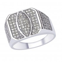 White CZ graceful 925 Sterling Silver Finger Ring For Men