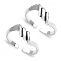 Spiral 925 Sterling Silver Toe Ring For Women